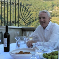 Robert with wine and figs