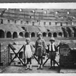 My mother (center) and her brother and sister, Colosseum, Rome, 1930