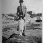 My mother and my grandfather, Ostia, 1924