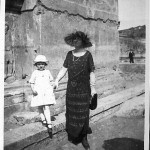 My mother and my grandmother at the Forum, Rome, 1924