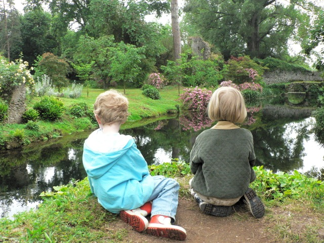 Stopping to marvel after a long walk in one of our favorite gardens