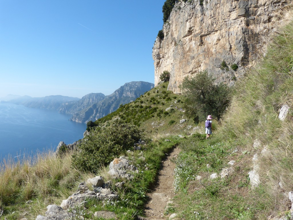 Walking on the Path of the Gods on the Amalfi Coast