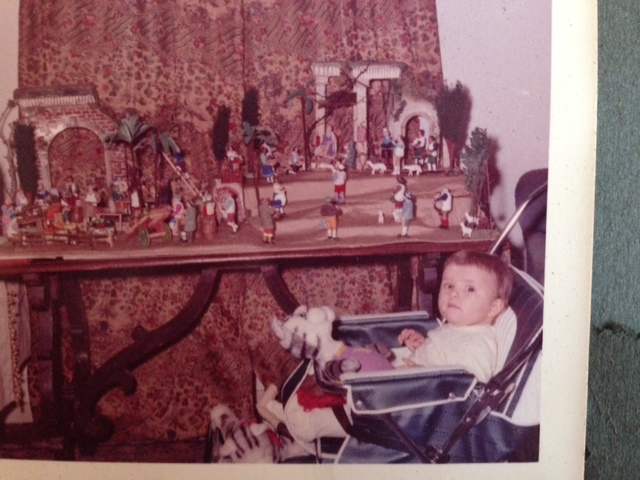 Me at nine months with the presepio