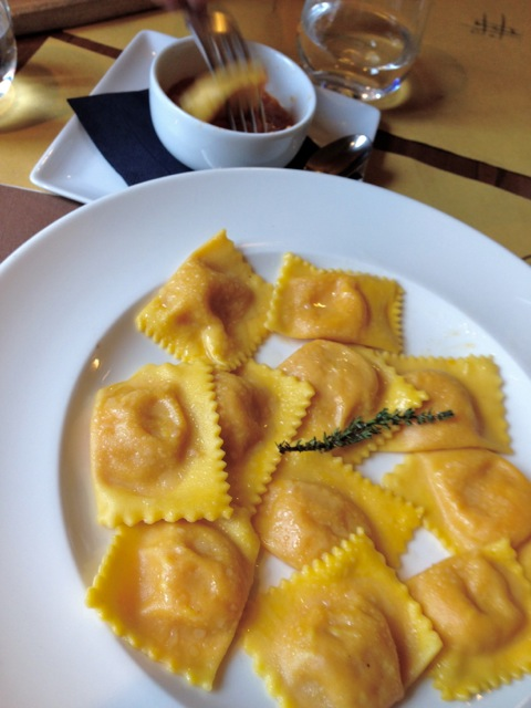 Simply extraordinary pumpkin filled tortelli in Reggio Emilia